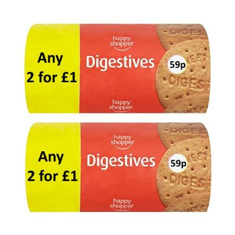 Digestives Biscuits Happy Shopper 200g (2 Pack)